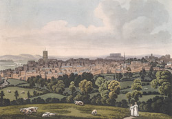 A north-east view of Nottingham from Mr James' Coffee Shop